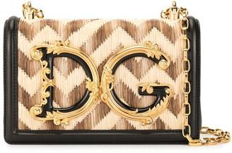 Dolce & Gabbana baroque logo shoulder bag
