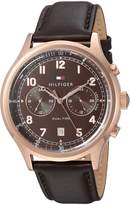 Tommy Hilfiger Men's 'SPORT' Quartz Gold and Leather Casual Watch, Color: (Model: 1791387)