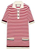 Gucci Striped cotton top with lurex