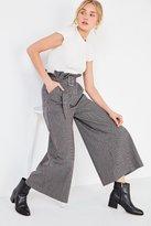 J.o.a. Plaid Paperbag Wide-Leg Pant
