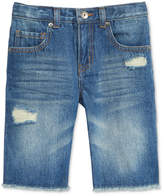 Epic Threads Destructed Cotton Denim Shorts, Little Boys, Created for Macy's