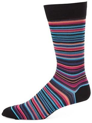 Marcoliani Milano Striped Pima Cotton-Blend Socks
