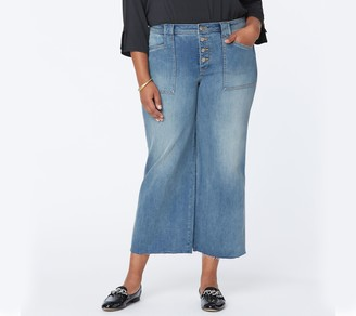 NYDJ Teresa Wide Leg Ankle Jeans with Utility Detail- Clean Clayburn