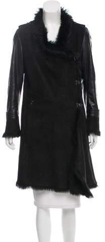 Karl Donoghue Knee-Length Shearling Coat