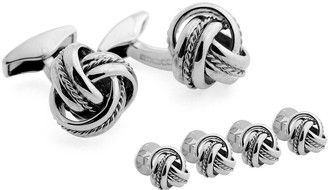 Tateossian Cable Knot Cuff Links and Stud Set