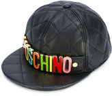 Moschino logo plaque quilted snapback - women - Sheep Skin/Shearling/Viscose - S