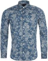 Eden Park Men's Long Sleeved Floral Cotton Shirt