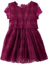 Nannette Girls 4-6x Floral Lace Knit Dress