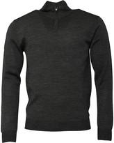 French Connection Mens Cash 1/2 Zip Sweatshirt Grey Melange