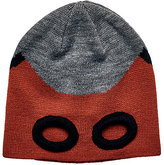 San Diego Hat Company Gray & Red Playful Mask Beanie - Kids
