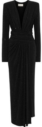 Alexandre Vauthier Crystal-embellished Ruched Stretch-jersey Gown