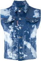 DSQUARED2 tie dye waistcoat - women - Cotton/Acrylic/Spandex/Elastane - 40