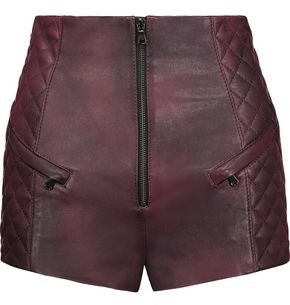 Pierre Balmain Quilted Leather Shorts