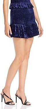 Aqua Smocked Velvet Mini Skirt - 100% Exclusive