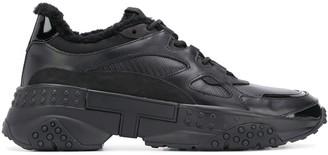 Tod's Monogram Detail Low Top Sneakers