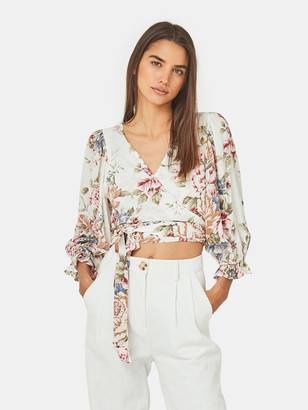 Auguste The Label Sadie Frida Cropped Wrap Blouse