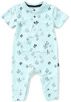 Petit Lem Baby Boys Newborn-6 Months Cactus-Print Short-Sleeve Coverall