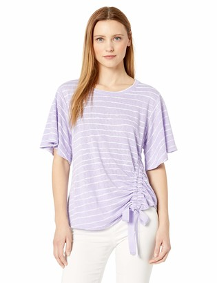 Democracy Women's Short Sleeve TEE with Side CASING