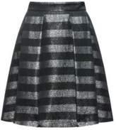 HUGO BOSS Metallic Striped Skirt Rizalia 0 Black