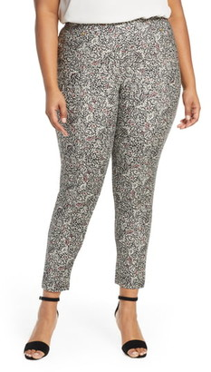 MICHAEL Michael Kors Boho Block Print Pull-On Stretch Cotton Pants