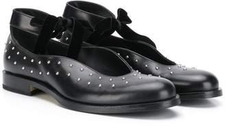 Gallucci Kids TEEN stud-embellished shoes