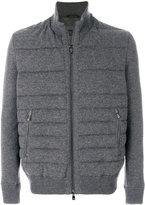 Corneliani zipped padded jacket