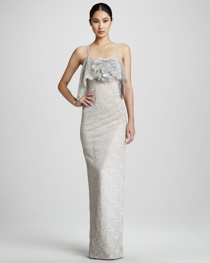 Notte by Marchesa Lace-Overlay Gown