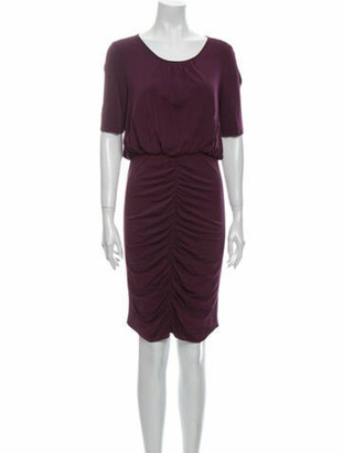 Burberry Scoop Neck Knee-Length Dress Purple