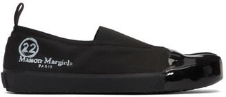Maison Margiela Black Tabi Vandal Slip-On Sneakers