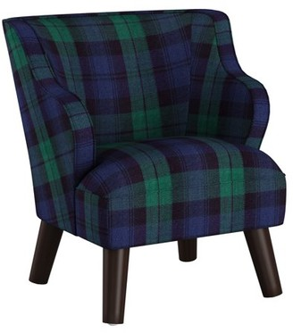 Skyline Furniture Kids Modern Chair in Blackwatch Blackwatch