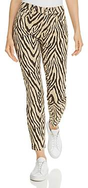 Current/Elliott The High-Rise Stiletto Printed Skinny Jeans in Zebra - 100% Exclusive