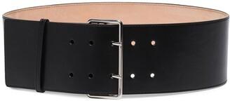 Alexander McQueen Black Leather Waist Belt