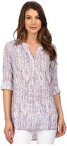 NYDJ Knotted Trim Henley Tunic