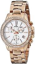 Rotary Women's alb90088/c/01 Analog Display Swiss Quartz Rose Gold Watch