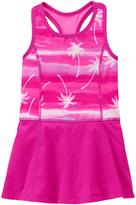 Gymboree Electric Pink Palm Tree Racerback Active Dress - Girls