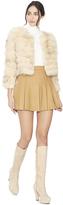 Alice + Olivia Oatmeal Fawn Fur Jacket