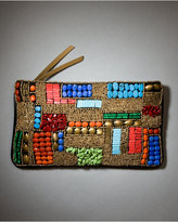 Express Colorful Beaded Clutch