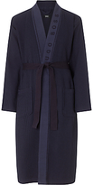 Hugo Boss Boss Waffle Cotton Mix Robe, Navy