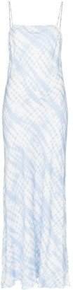 STAUD printed spaghetti strap maxi dress