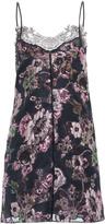 Francesco Scognamiglio Lace Trim Floral Mini Dress