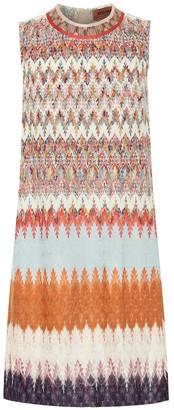 Missoni Striped stretch-knit minidress