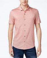 Michael Kors Men's Diamond Print Silk Linen Blend Shirt