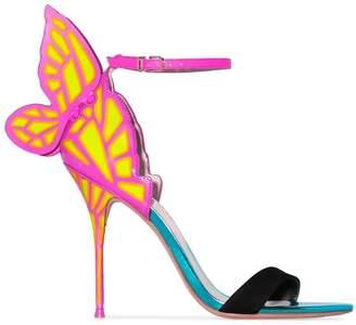 Sophia Webster multicoloured Chiara 100 butterfly heel leather sandals