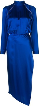 Mason by Michelle Mason Embellished High-Neck Dress
