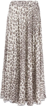 P.A.R.O.S.H. Leopard-Print Pull-On Skirt