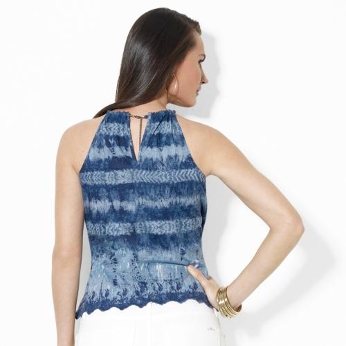 Lauren Ralph Lauren Ralph Tie-Dye Cotton Halter Top