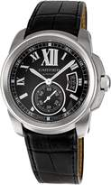 Cartier Men's W7100041 Calibre de Leather Strap Watch