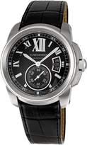 Cartier Men's W7100041 Calibre de Leather Strap Watch