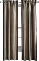 CHF Faux-Silk Stripe Rod-Pocket Curtain Panel