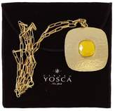 Gerard Yosca Gold & Yellow Long Square Pendant Necklace